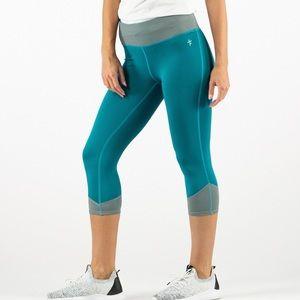 Live Love Dream grey & neon Capri yoga pants, M